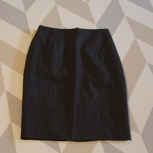 Grey Pencil Skirt with zip in back! Fitted